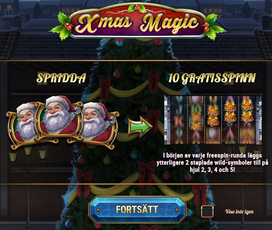 Xmas Magic slotsspel!
