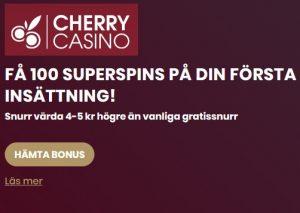 Hämta Superspins nu hos CherryCasino!